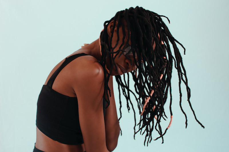 使用綠藤生機奇蹟辣木護髮油後的頭髮模樣示意