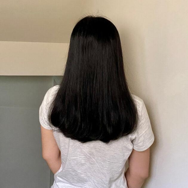 綠藤生機頭皮淨化洗髮精洗後模樣